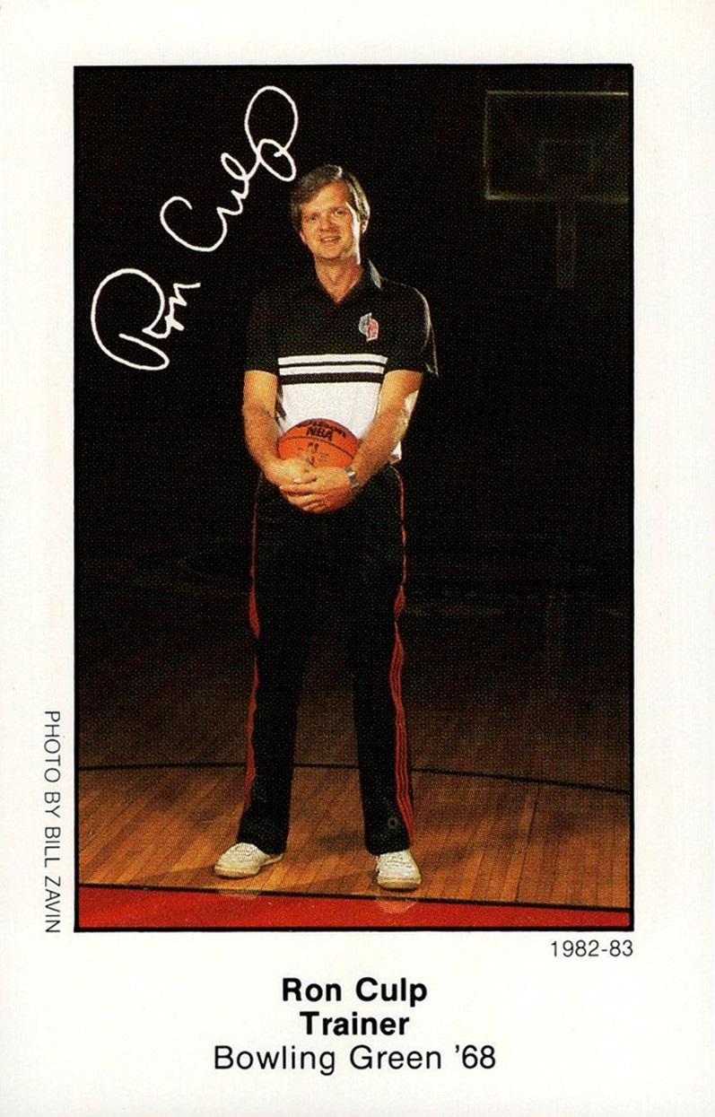 1982-83 Portland Trail Blazers Police Ron Culp (1)
