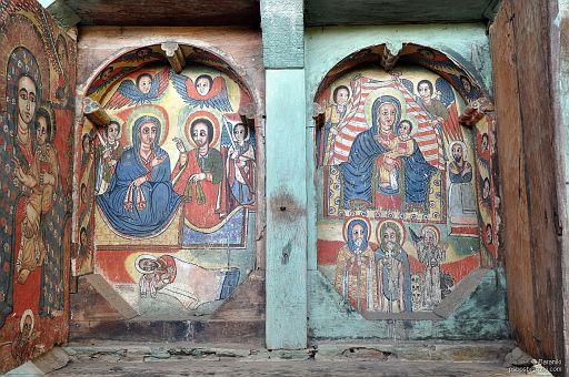 Malowidła sakralne w niszach