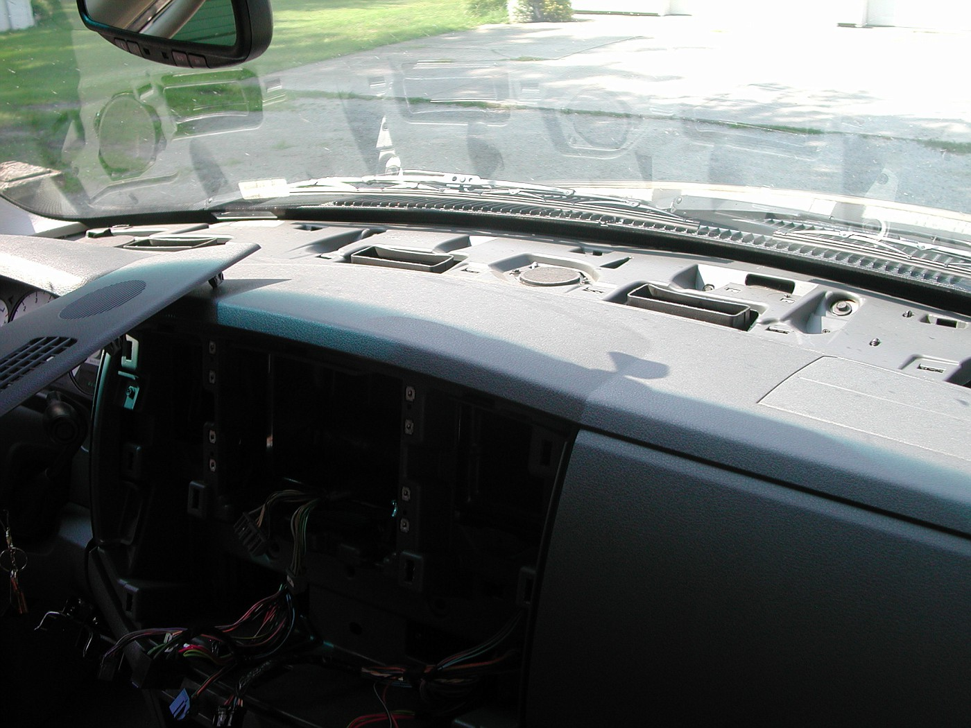 3 Dash Speakers 2012 Dodge Ram Stereo Upgrade I Dont Have A Pic Of The But This Shows Middle Speaker And One Screws As You Can See They Are Pretty Easy To Get