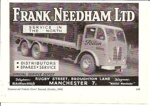 FRANK NEEDHAM LTD