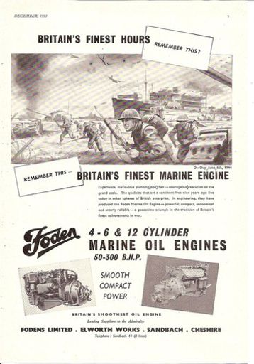 d day finest hour marine oil engine 1953