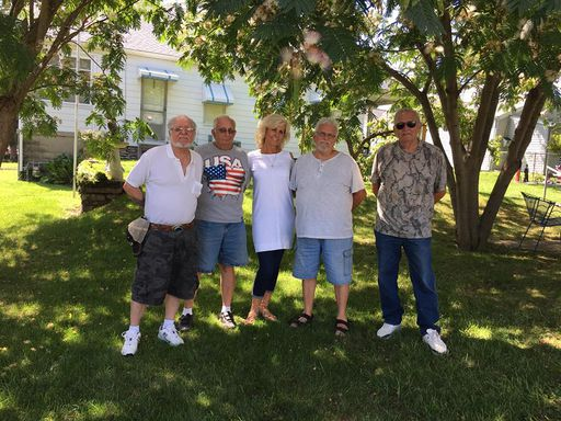 #14-Billy Ray Hutson, James Henry Hutson, Linda Gail HUTSON Clark, Ronnie Hutson, and Perry Lee Hutson - Brothers and Sister - 2017