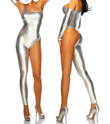 silver catsuit