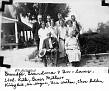 Joseph Candler McBrayer, Georgia Garner McBrayer & Children's Spouses, with IDs. Front row: Joseph Candler McBrayer; Georgia Garner McBrayer. Middle row: Ruth Brooks McBrayer; Bessie Mae Eaves McBrayer; Lovie Durrett McBrayer; Effie Mable Bullock McBrayer