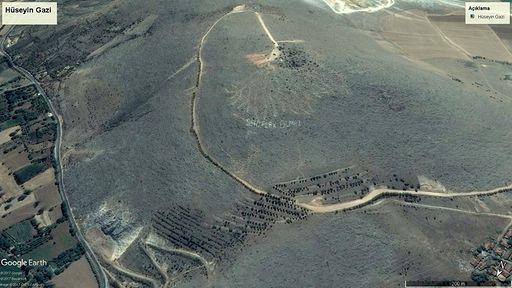 Uydu Fotoğrafında Hüseyin Gazi Tepesi