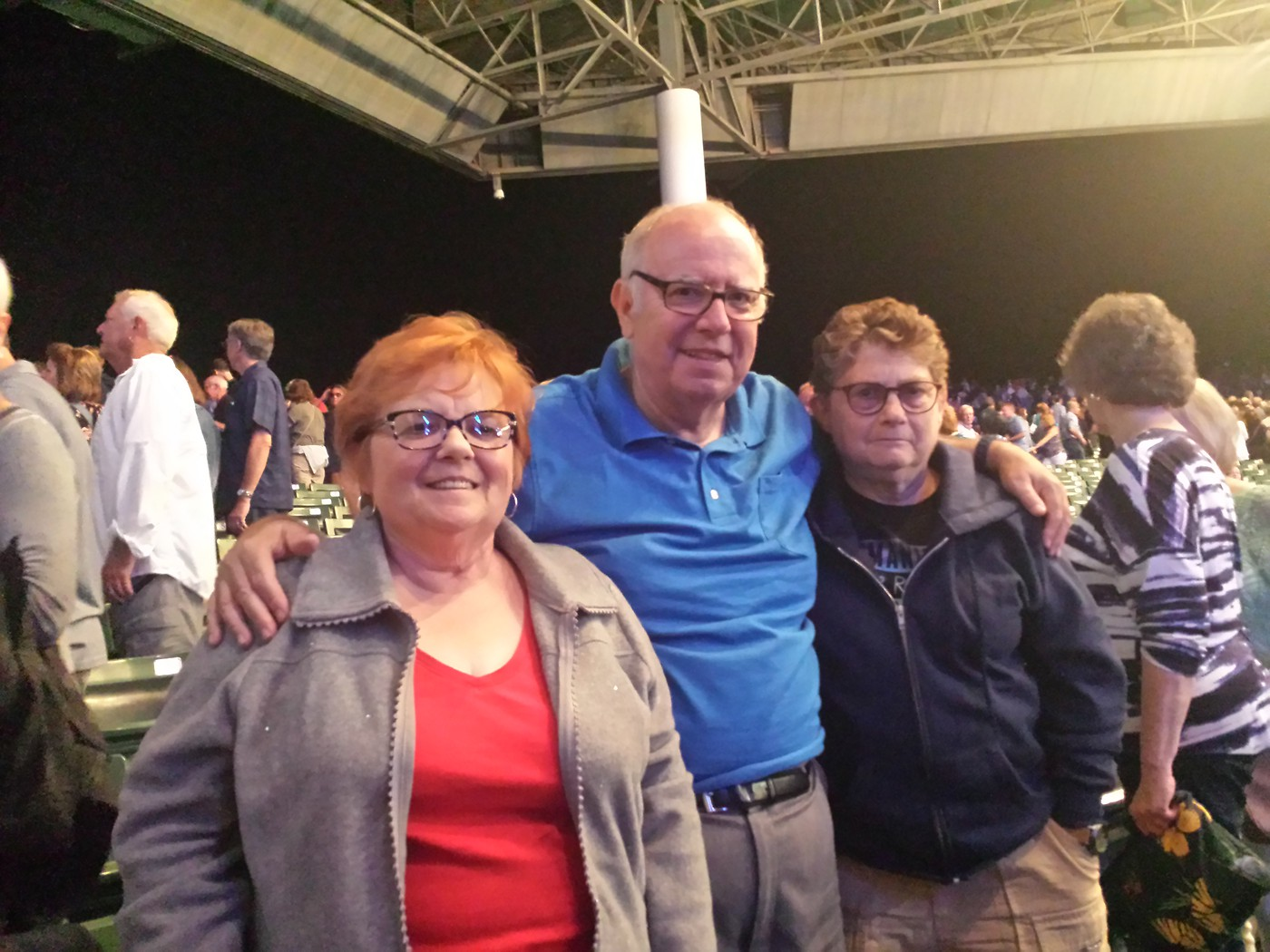 At James Taylor Concert with Linda and Sue Levy