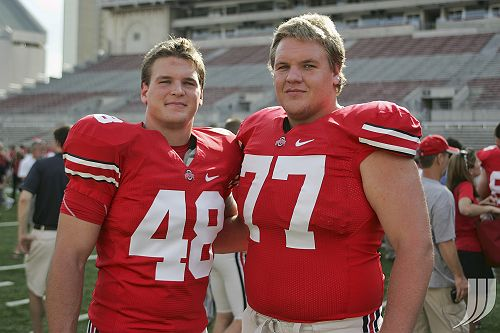 Guess which one is the offensive lineman (and pretend like I didnt already tell you his #).