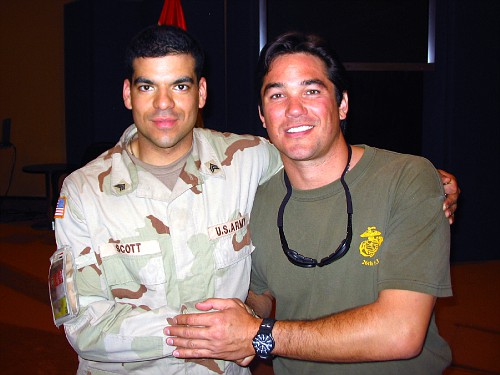 Sgt. Okan Scott and Dean Cain