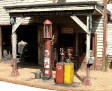 Close-up of gas pump and lubesters