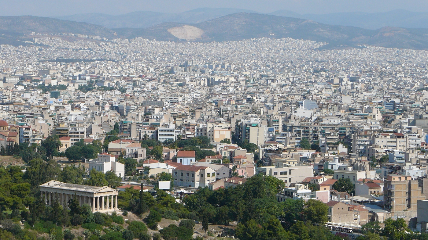 Athens is a very large city