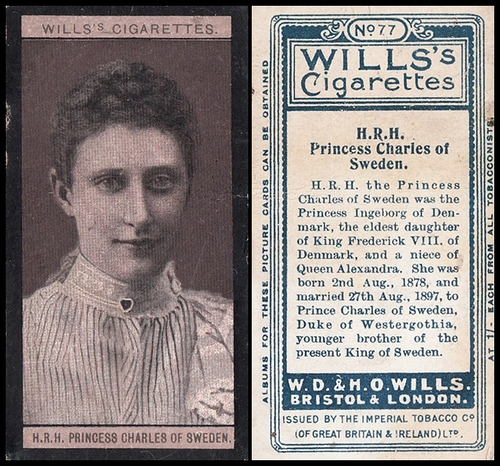 1908 Wills European Royalty #077