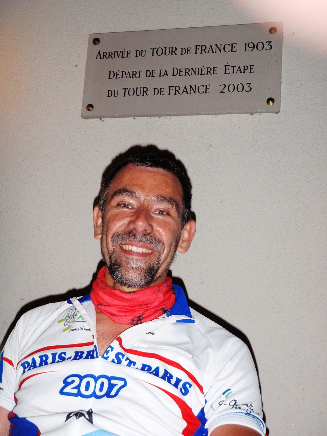 Andreas at a place of a stage of the Tour de France