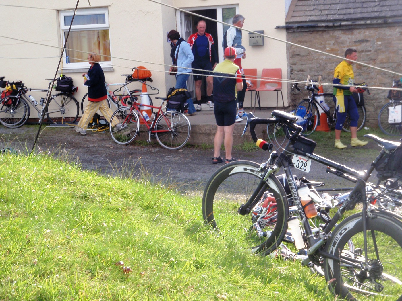 Manfred's bike at Alston control
