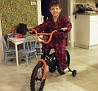 Matty gets a bicycle for Christmas