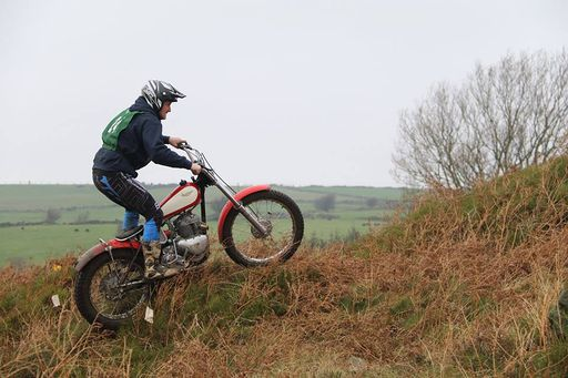 Garry Shaw gave his rigid Triumph Twin an outing at Manchester 17's Boxing Day Trial
