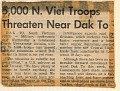 5,000 North Vietnamese in hills around DAK TO