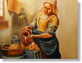 Influence from Vermmeer's Milk Maid
