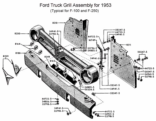 1953 f100 radiator system diagram  1953  free engine image