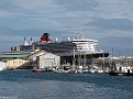 QM2 at Quai de France across Avant Port