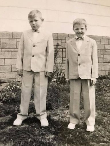 Quinton and Terry Sharp Easter Sunday 1958 maybe