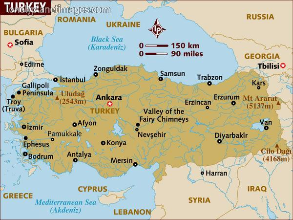 Photo Map Of Turkey Preparations For Turkey Greece Trip Album - Georgia map lonely planet