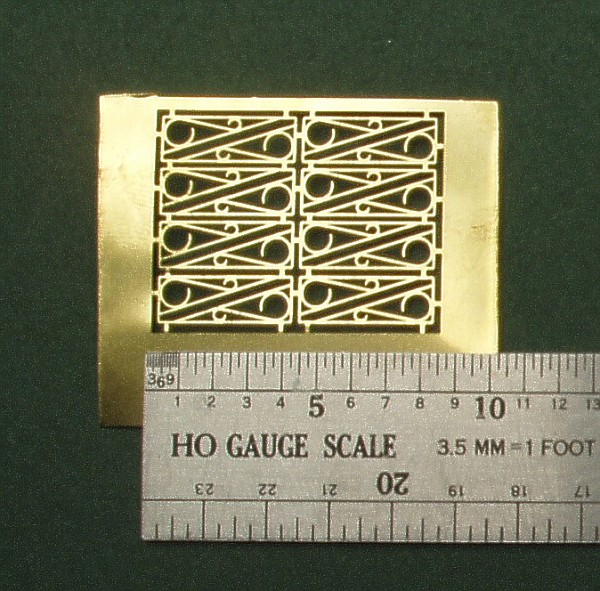 HO Scale Decorative Brackets